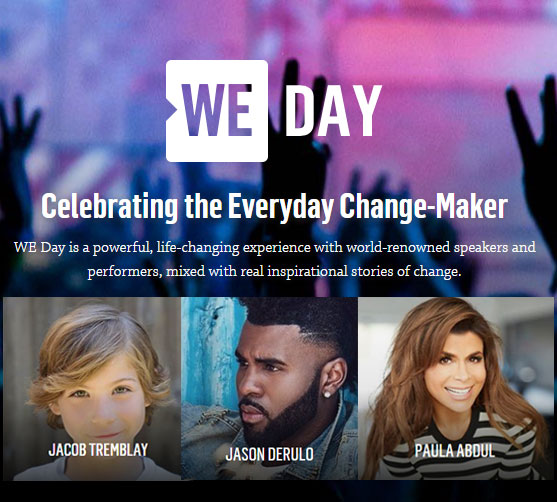 WE Day boasts impressive list of top-notch talent