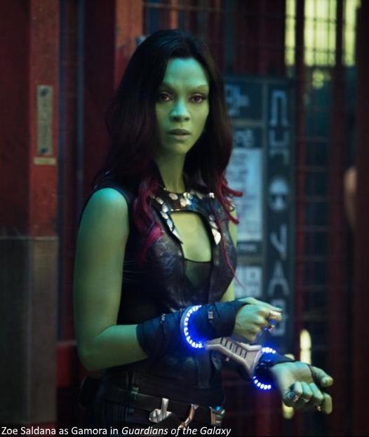Zoe Saldana in Guardians of the Galaxy