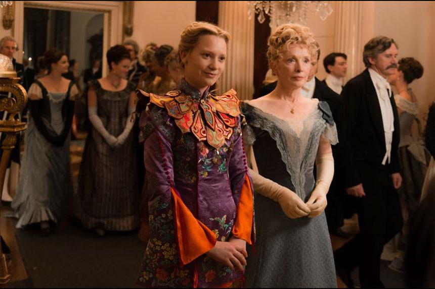 Mia Wasikowska and her Alice Costume