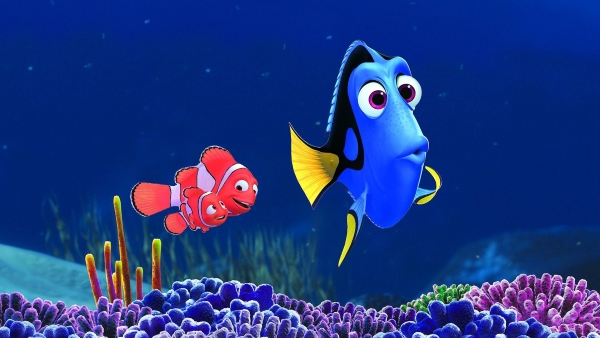 Dory, Nemo and Marlin in Finding Dory