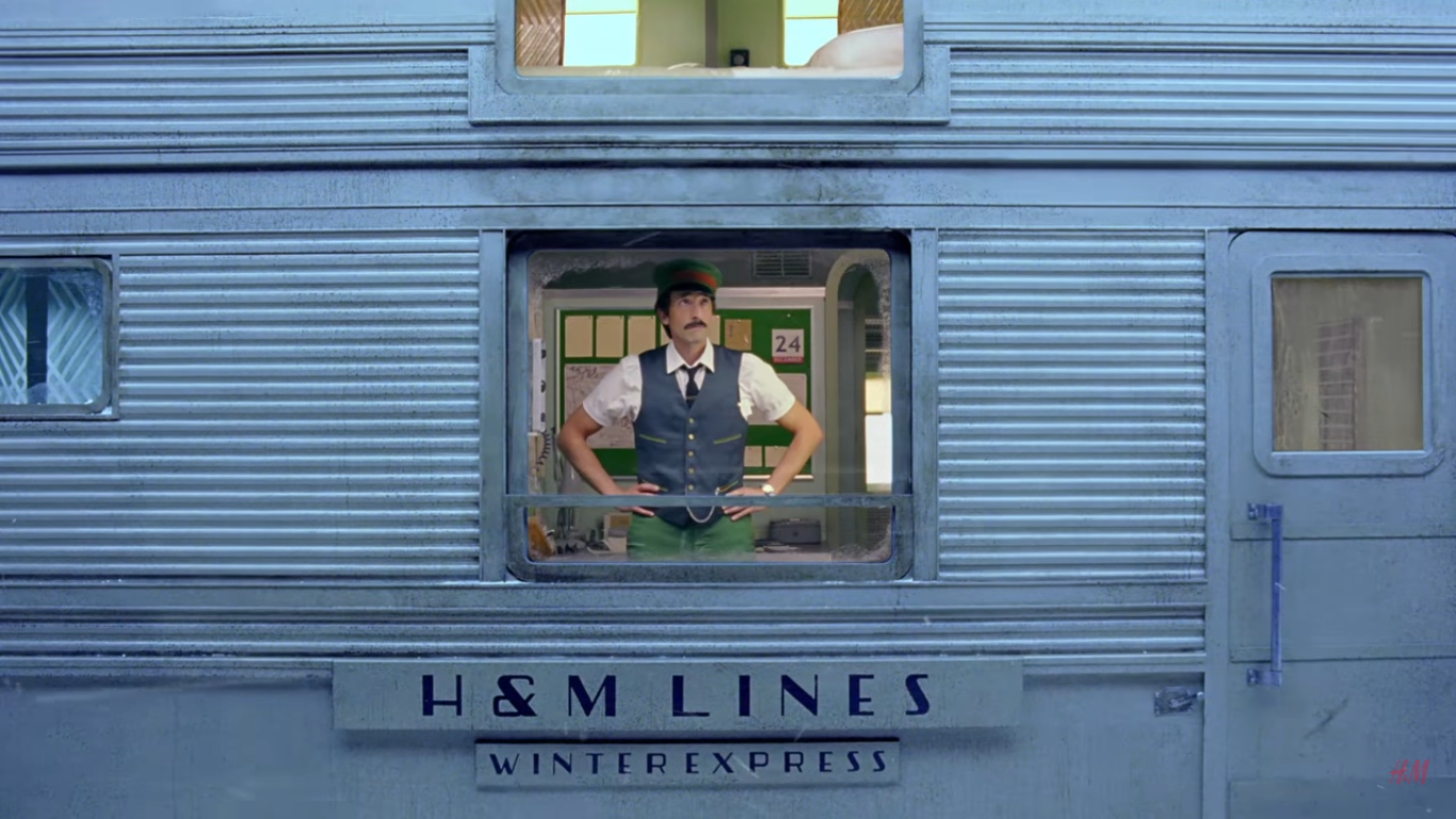 Adrien Brody stars in Wes Anderson's H&M Christmas ad