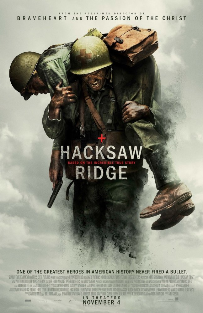 Hacksaw Ridge win this week's top trailer prize