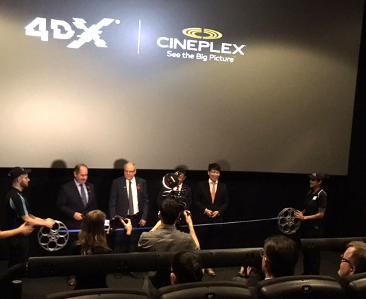 Ribbon-cutting ceremony at Cineplex Yonge-Dundas