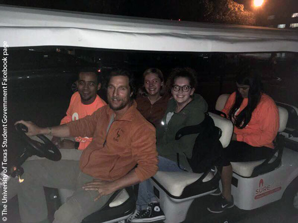 Matthew McConaughey at University of Texas Austin