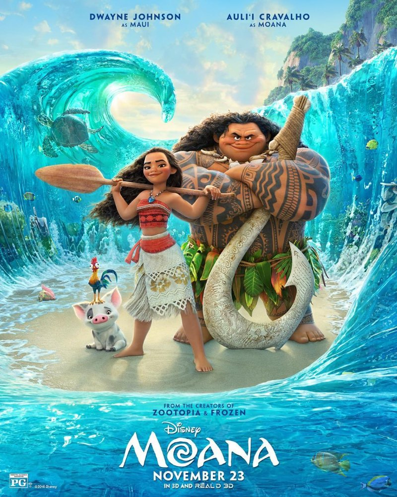 Moana rides into theaters this weekend