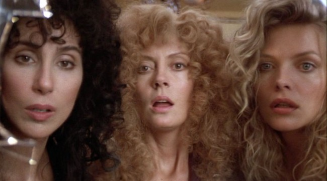 In The Witches of Eastwick, the devil (disguised as Jack Nicholson) descends on a sedate New England town after being summoned by three housewives who've grown bored with the male suitors of their local population. He successfully seduces Alexandra Medford, Sukie Ridgemont and Jane Spofford, offering them everything their appetites desire. Cher, Michelle Pfeiffer and […]