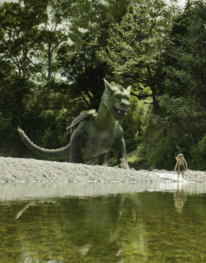 Elliot and Pete having fun in Pete's Dragon