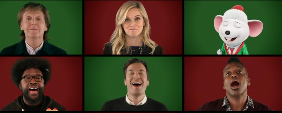 Jimmy Fallon, Paul McCartney, Sing cast perform Wonderful Christmastime