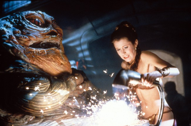 "The copper bikini Carrie wore as Princess Leia in the scenes after she was captured by the evil villain Jabba the Hutt and made his slave in Return of the Jedi became iconic. However, Carrie hated the metal two piece costume for several reasons. She later told PEOPLE, ""When [director George Lucas] showed me the […]"