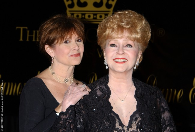 Debbie eventually forgave Elizabeth Taylor for stealing her husband. Here Debbie is attending Elizabeth's 75th birthday party in 2007 with Carrie at the Ritz-Carlton in Nevada.