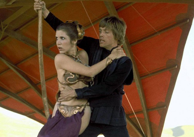 Mark Hamill and Carrie Fisher performed the stunt in which Luke and Leia swing to safety across the chasm from one platform to another 30 feet above the studio floor in Return of the Jedi, shooting it in just one take.