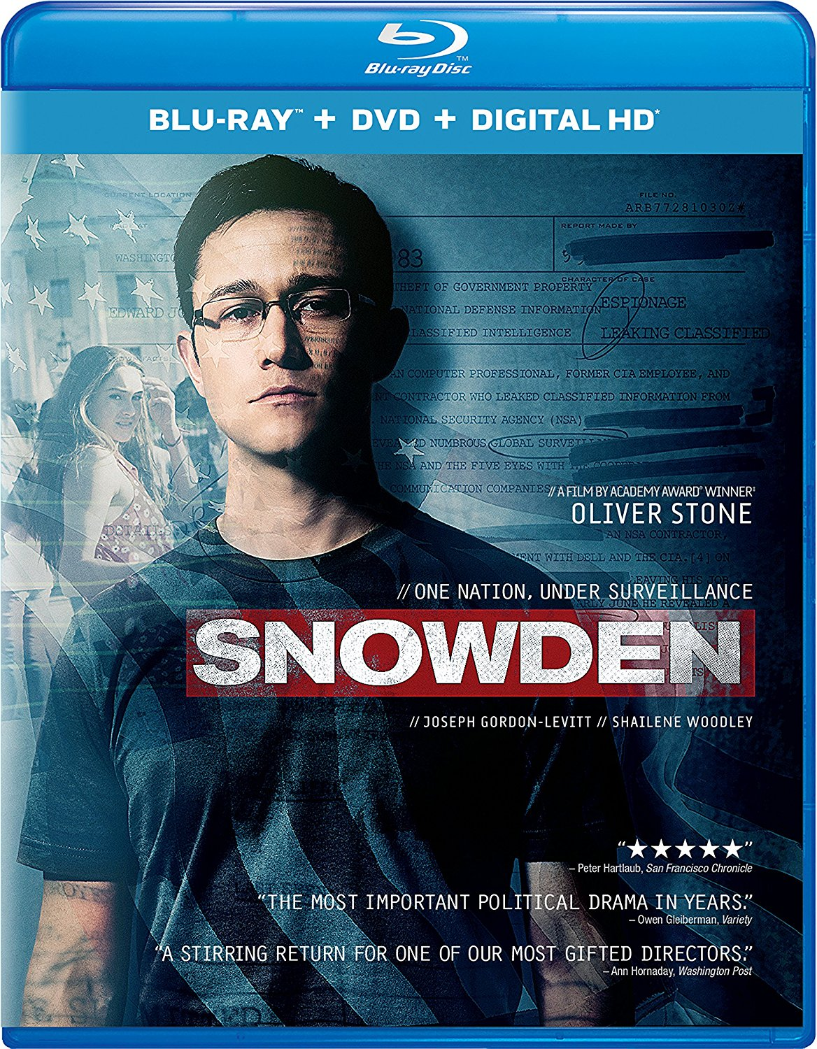Snowden is out on DVD and Blu-ray today