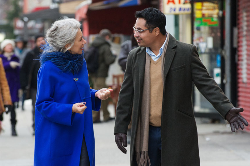 Helen Mirren and Michael Pena in Collateral Beauty