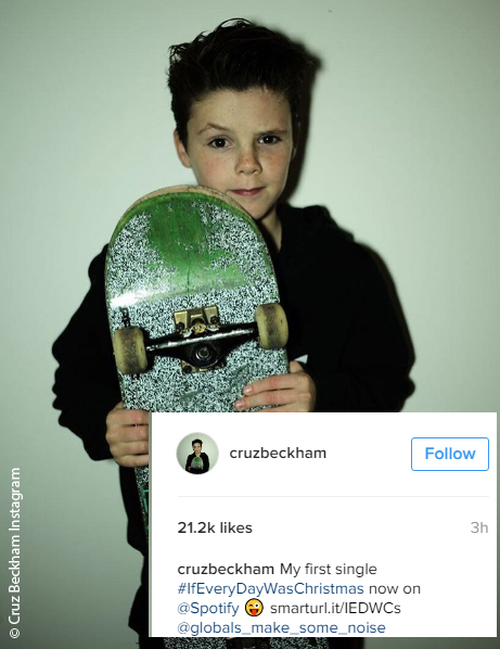 Cruz Beckham Instagram photo
