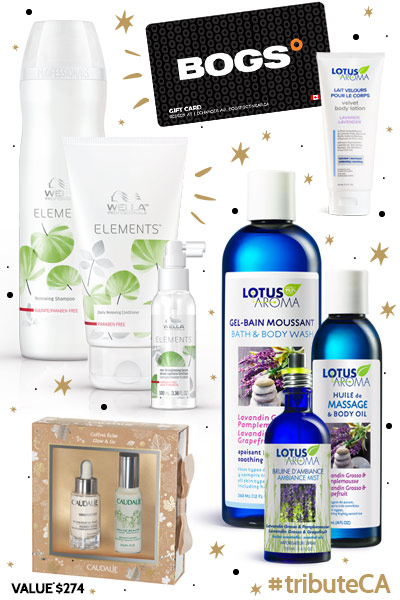 12 Days of Giveaway Day 6 - BOGS, Wella, Caudalie, Lotus Aroma