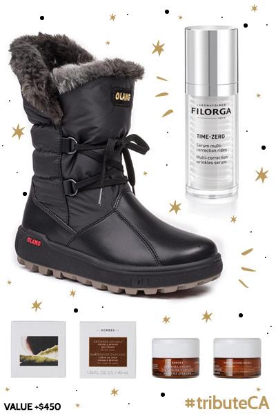 Olang boots, Filorga, Korres