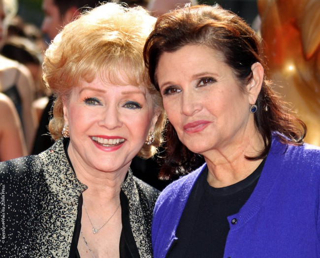 Debbie and Carrie at the Primetime Creative Emmy Awards in Los Angeles in September 2011. Debbie was nominated the year before for her guest appearance on an episode of the popular sitcom Will & Grace.
