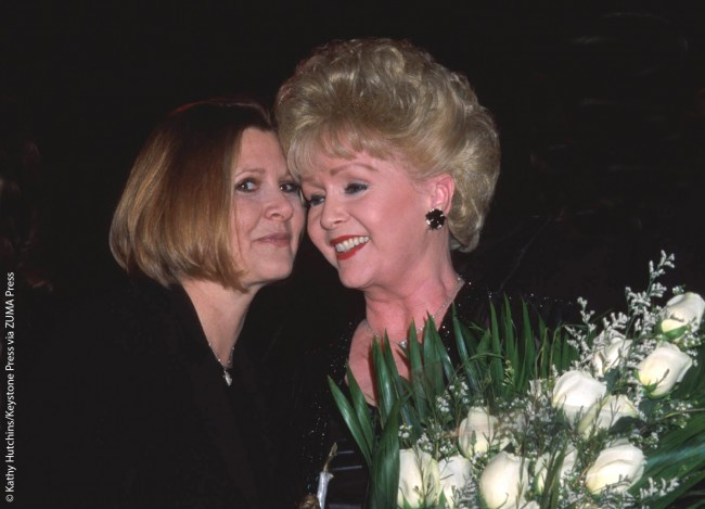 Carrie and Debbie attended the Nevada Ballet Theatre's Black & White Ball at Caesar's Palace in Las Vegas together in January 2001. For 10 years in a row, Debbie headlined a show for three months each year atLas Vegas's Riviera Hotel.