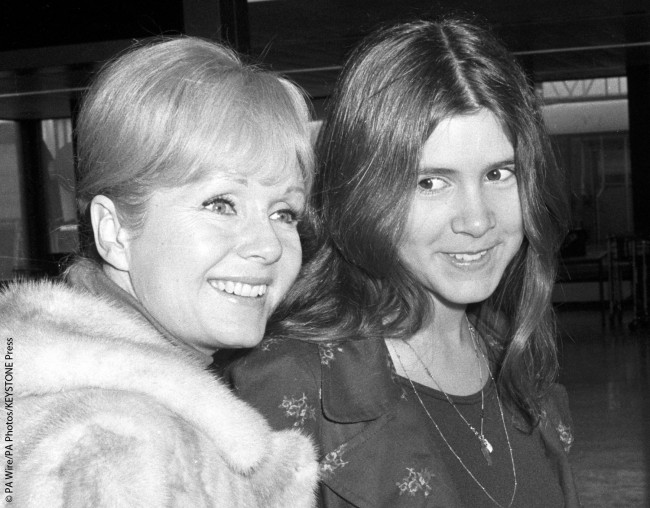 This photo was taken at London's Heathrow Airport when Carrie and Debbie were en route to Madrid, Spain. Carrie was 15 at the time and had already begun to use marijuana, but she hadn't yet developed the drug dependencies that would throw a wrench into their relationship.