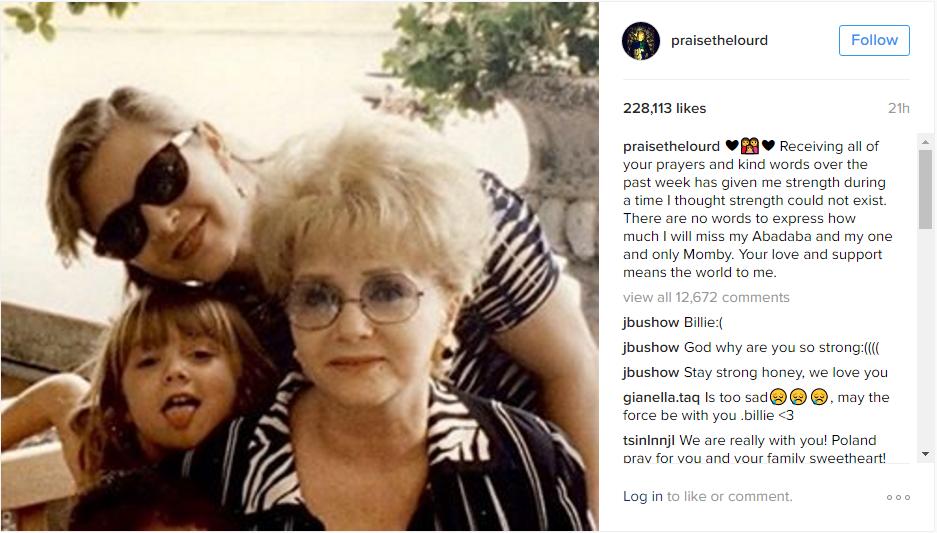 Billie Lourd Instagram post