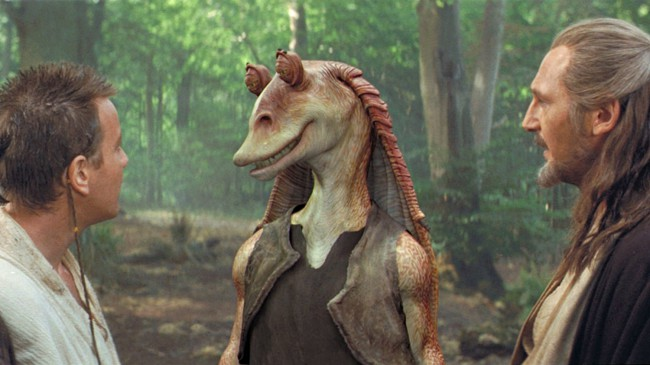 """Voiced by: Ahmed Best Do we really need to explain why Jar Jar Binks is on this list? Created as the """"comic relief"""" of the rebooted prequels, the character was reportedly inspired by Goofy. Yup, the Disney dog. This probably gives you an idea how Mr. Binks fared with audiences. George Lucas and co. made […]"""