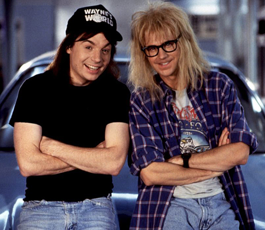 Mike Myers and Dana Carvey in Wayne's World