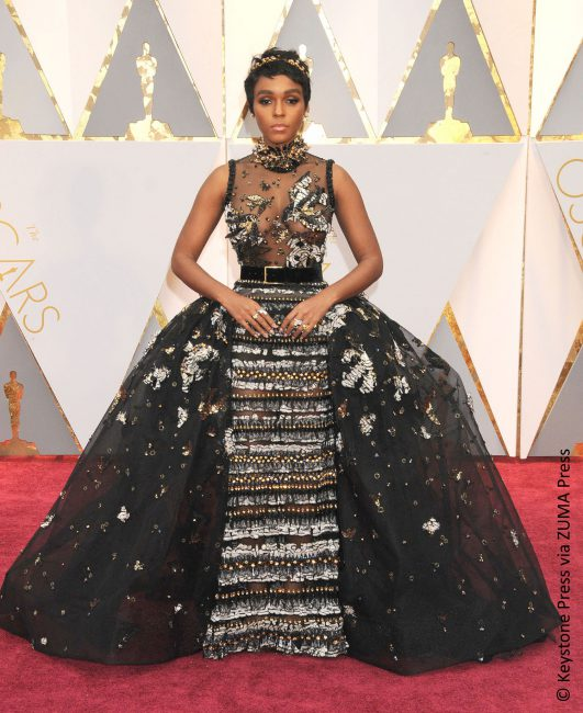 It was Janelle Monáe's first Oscar ceremony and she certainly made an impression, just not a positive one. She donned an ornate Elie Saab Haute Couture dress with gold embellishments and accentuated it with a Jimmy Choo clutch, Brian Atwood shoes, Forevermark diamond pieces and a Jennifer Behr headband. At least her film Moonlight took […]