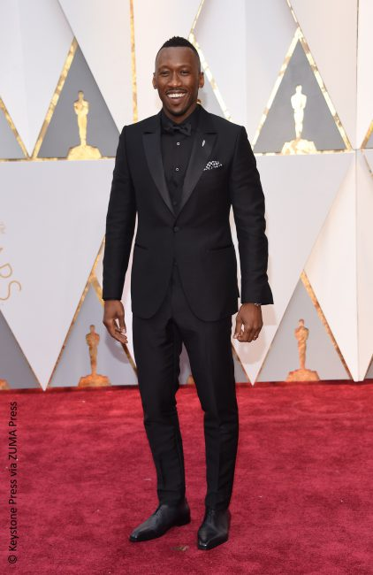 Mahershala Ali, who picked up an Oscar for Best Supporting Actor for Moonlight, looked dapper in a Ermenegildo Zegna Couture. Clearly, he was a winner in the style department as well.