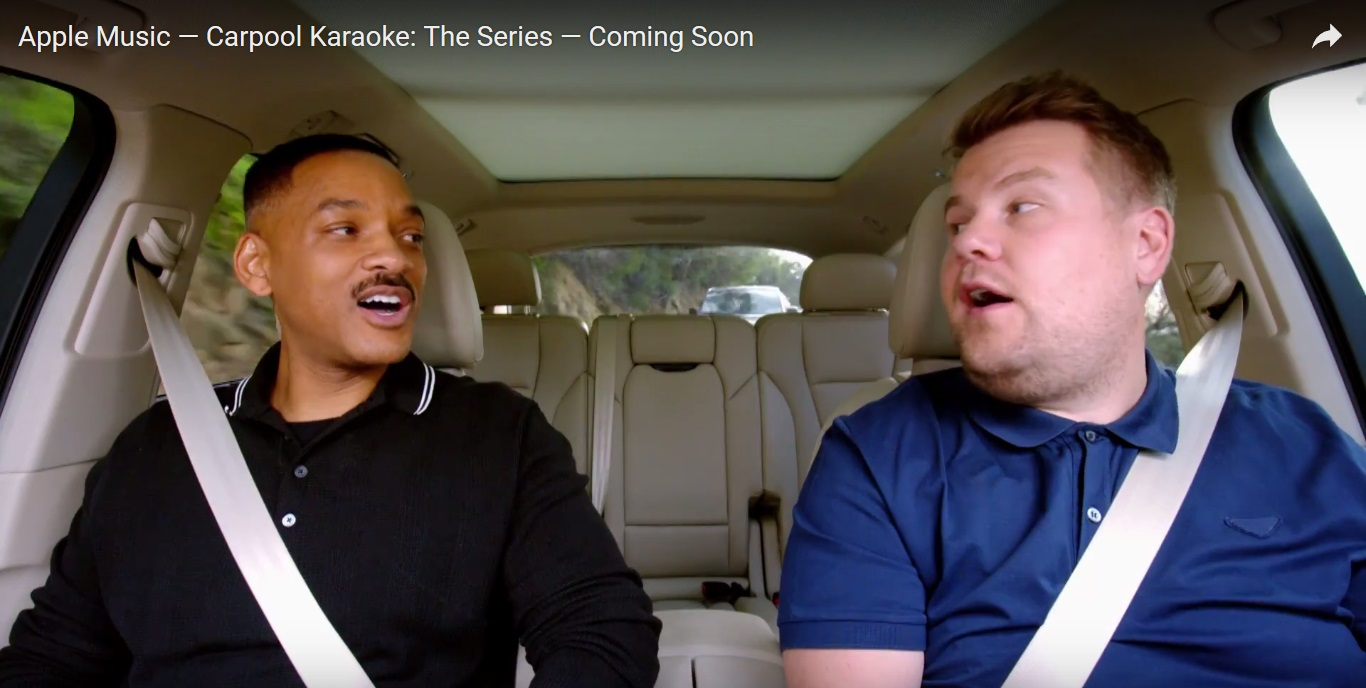 Carpool Karaoke TV show on the move