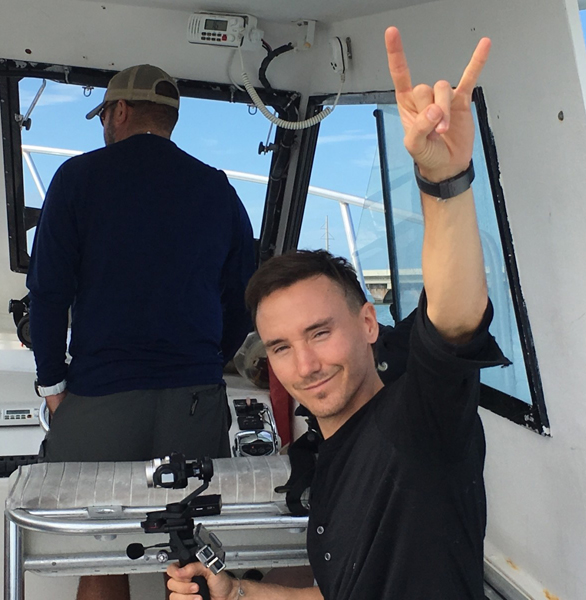 Last photo taken of Rob Stewart
