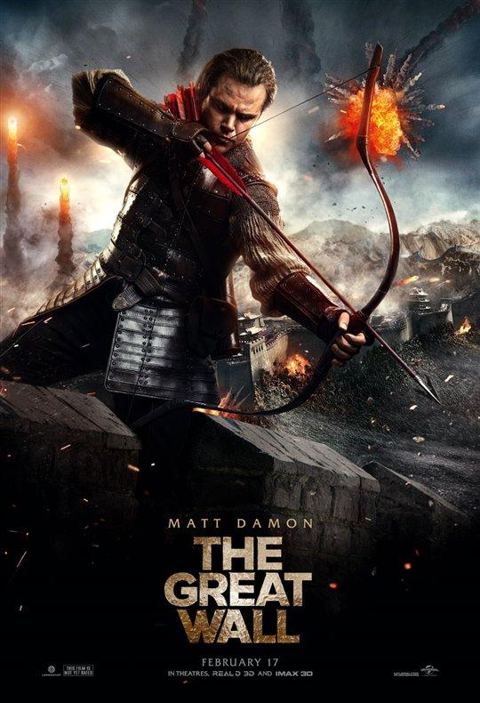 The Great Wall starring Matt Damon