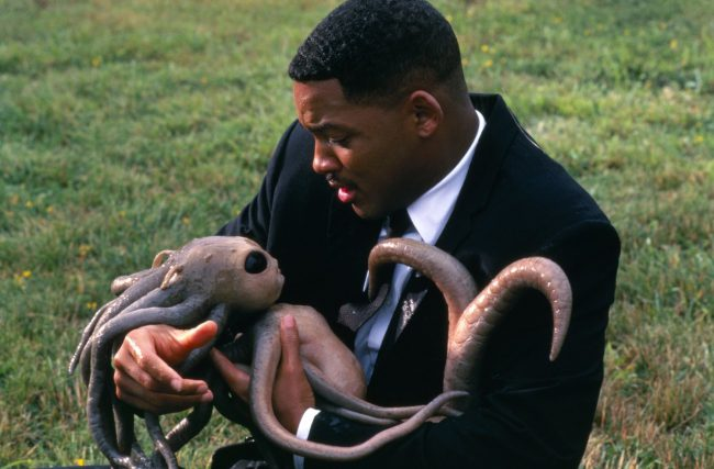 The baby squid-like alien featured in Men in Black is, in our opinion, the most memorable aspect of the film. We admit, some may find the tentacle-equipped creature gross. But we're of the camp that sees it as cute. Its large dark eyes won us over in seconds. And the thumb-sucking moment? Sold.