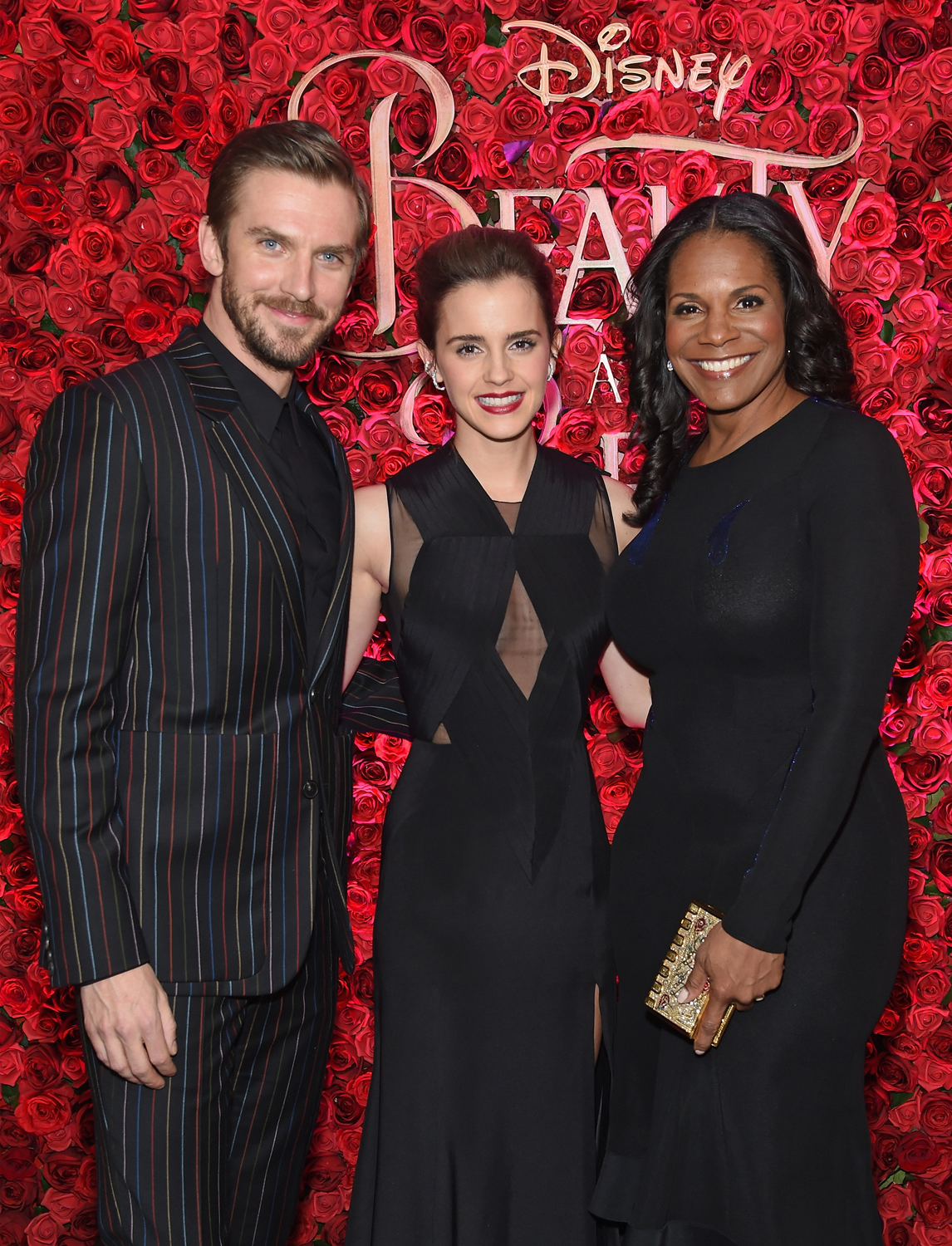 Dan Stevens, Emma Watson and Audra McDonald at the Beauty and the Beast premiere
