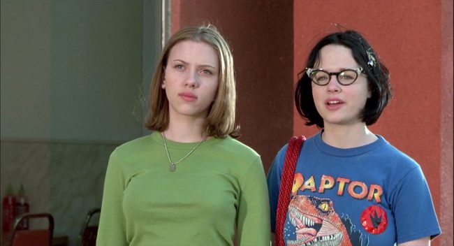 In only her 10th feature film, Scarlett's work in Terry Zwigoff's dramedy Ghost World ranks among her best. She portrays Rebecca, an eye-rolling high school outsider who is best friends with Enid (Thora Birch). The girls are smart and sarcastic with refined tastes that leave their peers perplexed (in other words, Rebecca and Enid are […]
