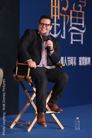 Josh Gad at Beauty and the Beast event. Photo by Ukonphoto