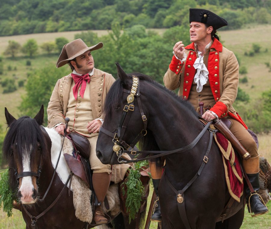 Josh Gad and Luke Evans in Beauty and the Beast
