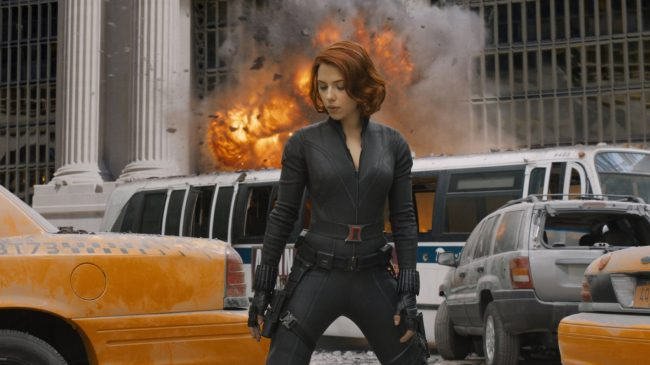 One of Scarlett's most successful films, The Avengers, features the actress as the tough-as-nails, skilled spy Natasha Romanoff a.k.a. Black Widow. Scarlett's talents as an actress able to portray a more complex character come through in this role as she navigates the dynamics of her team of heroes in addition to out-of-this-world villains.