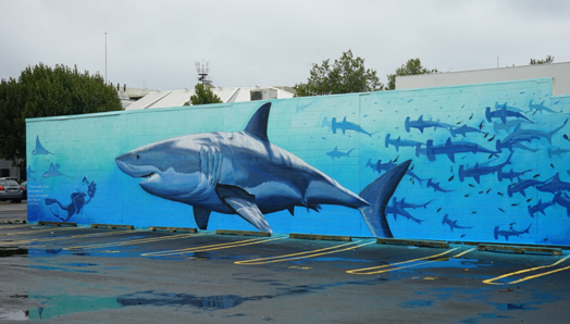 New Zealand mural by Freeman White in honor of Rob Stewart