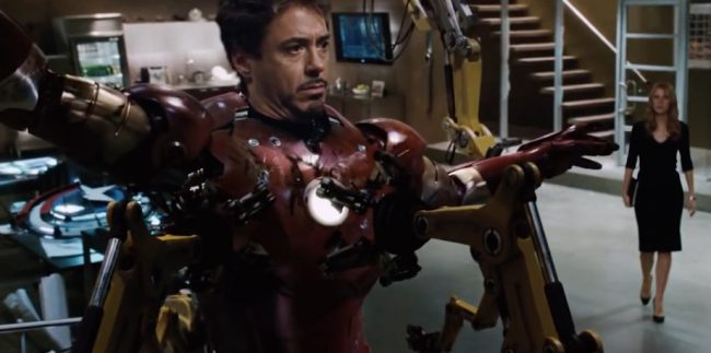 You've got to look close for this one. In the scene in which Tony Stark is taking off his Iron Man suit, you'll notice something familiar on the workbench on the left side of the frame. That's right! It's seems to be a prototype version of Captain America's shield. A little foreshadowing of things to […]