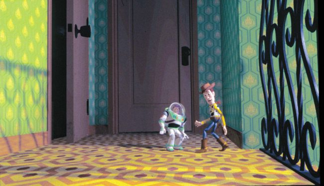 Strangely enough, Toy Story (1995) has various nods to Stanley Kubrick's horror classic The Shining (1980) — a little morbid when you consider the two films' differing subject matter! Nonetheless, one of these nods comes in the form of a clever interior design choice. Notice how the pattern on the upstairs carpet in Sid's house […]