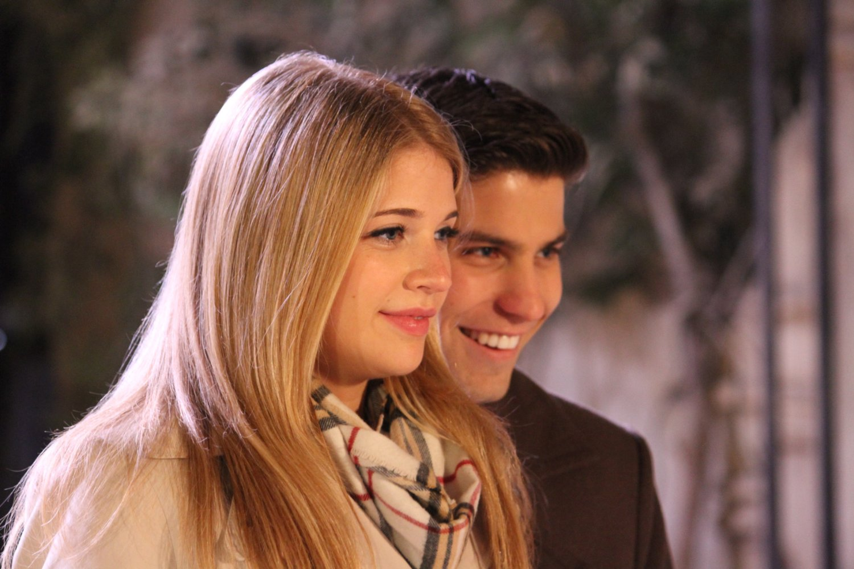Sarah Fisher and Luke Bilyk in Kiss & Cry
