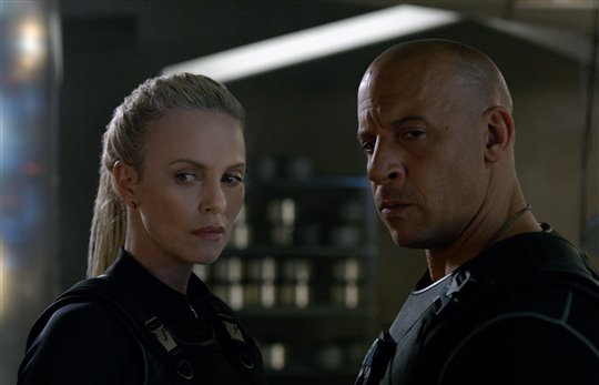 Charlize Theron and Vin Diesel