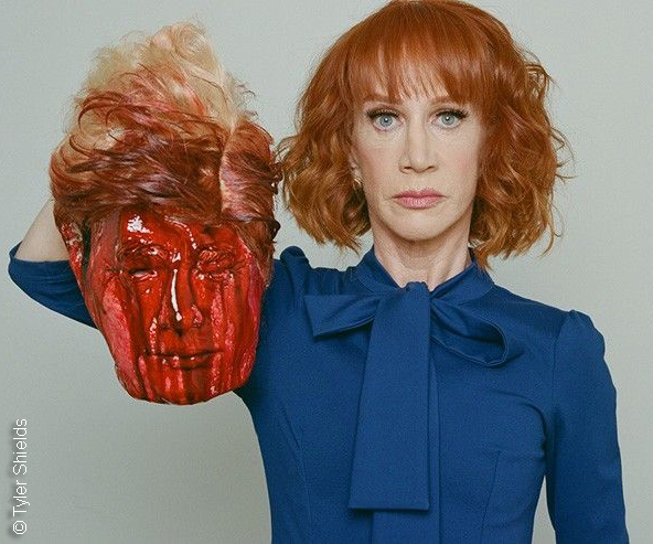 Kathy Griffin and Donald Trump severed head