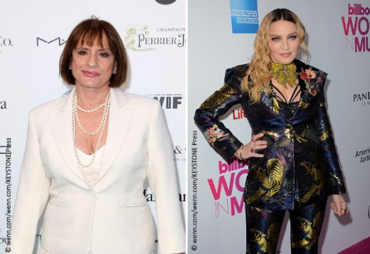 Left: Patti Lupone Right: Madonna