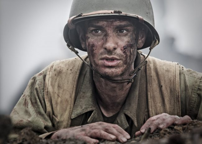 Cast: Andrew Garfield, Sam Worthington, Luke BraceyThe true story of Army medic Desmond Doss who becomes an unlikely hero on an Okinawa battlefield without bearing arms in World War II. Bravery, compassion and heroism are personified in this story of sheer strength of one's will to survive.