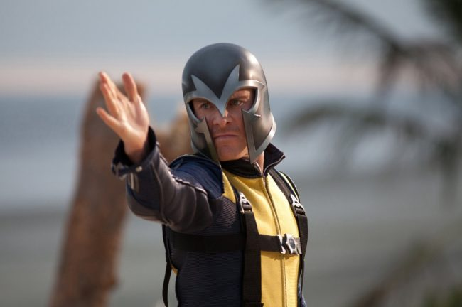 Erik Lehnsherr as Magneto in X-Men: First Class is one powerful supervillain. With powers over metal and played by the talented Michael Fassbender, his cold, chiseled good looks leave us feeling a little hot under the collar.