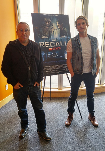 Director Mauro Borrelli and actor Jedidiah Goodacre