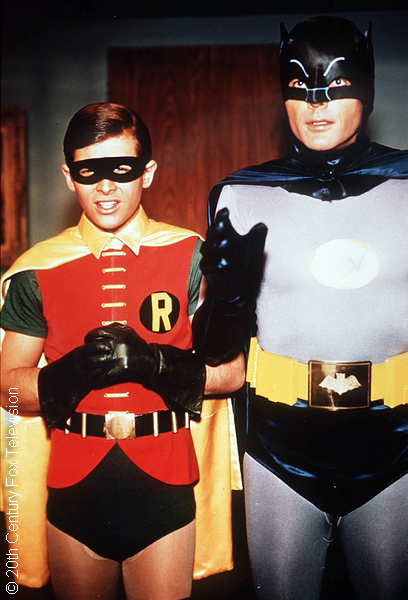 Burt Ward and Adam West as Robin and Batman