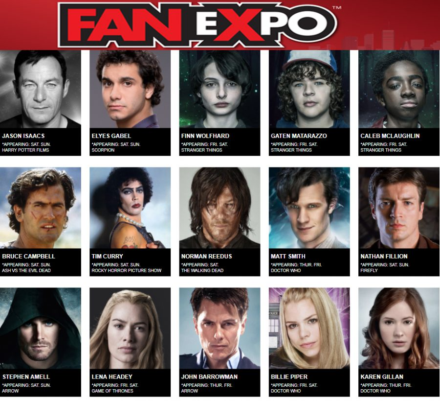Fan Expo Canada 2017 line up