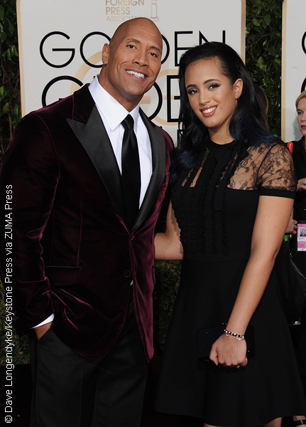 Dwayne Johnson and daughter Simone Alexandra Johnson